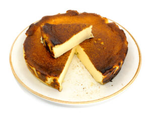Basque cheese cake - slice