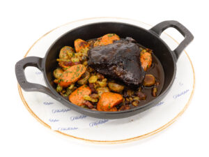 Classic beef bourguignon with ox-cheek